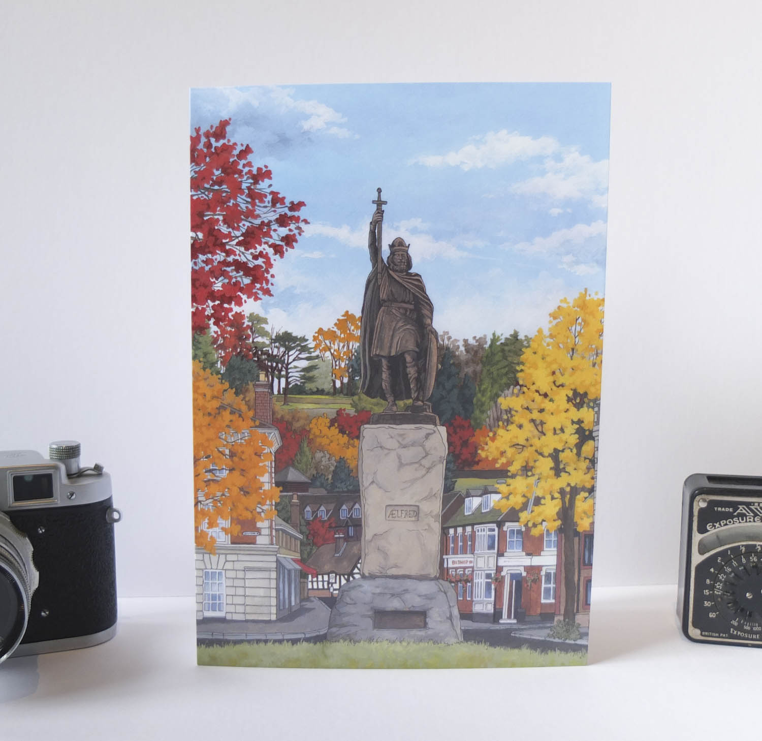 King Alfred in Autumn Greeting Card – Illustration by Jonathan Chapman-1