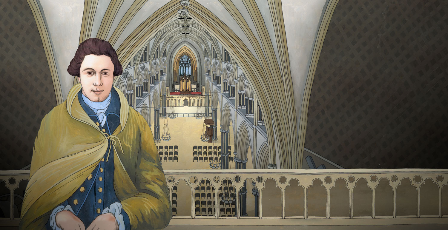 Lincoln Cathedral - Illustration by Jonathan Chapman