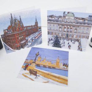 London Christmas Card Bundle - Illustration by Jonathan Chapman