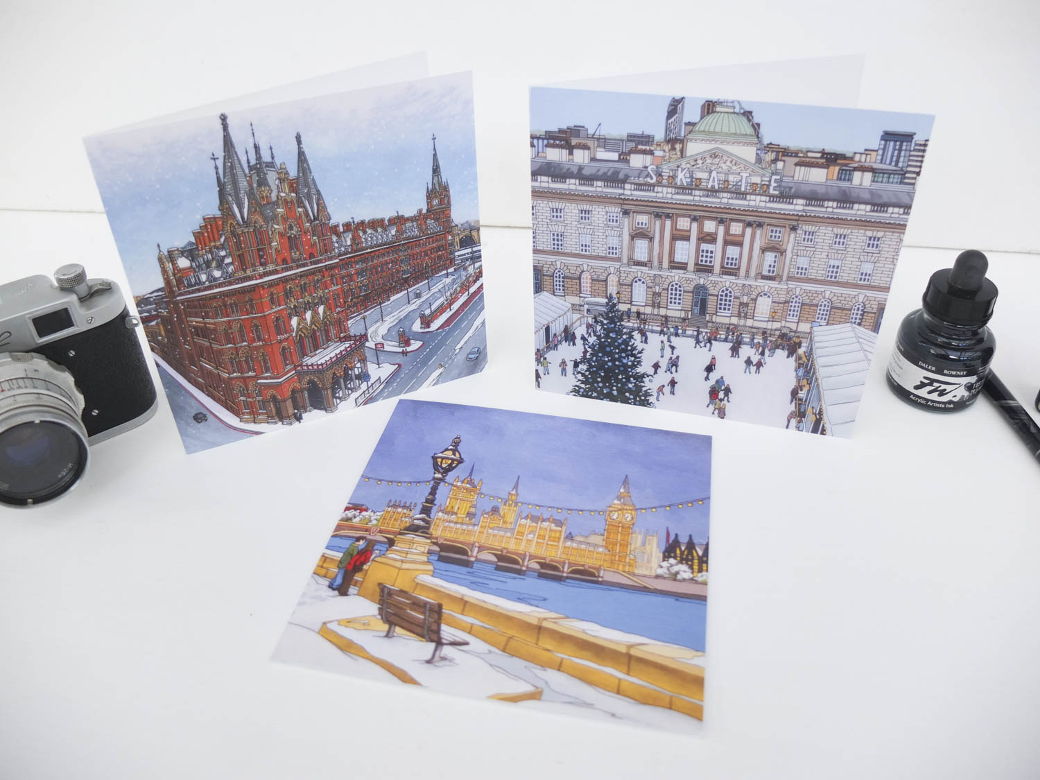 London Christmas Card Bundle Illustration By Jonathan Chapman
