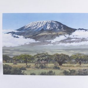 Mount Kilimanjaro Greeting Card - Illustration by Jonathan Chapman