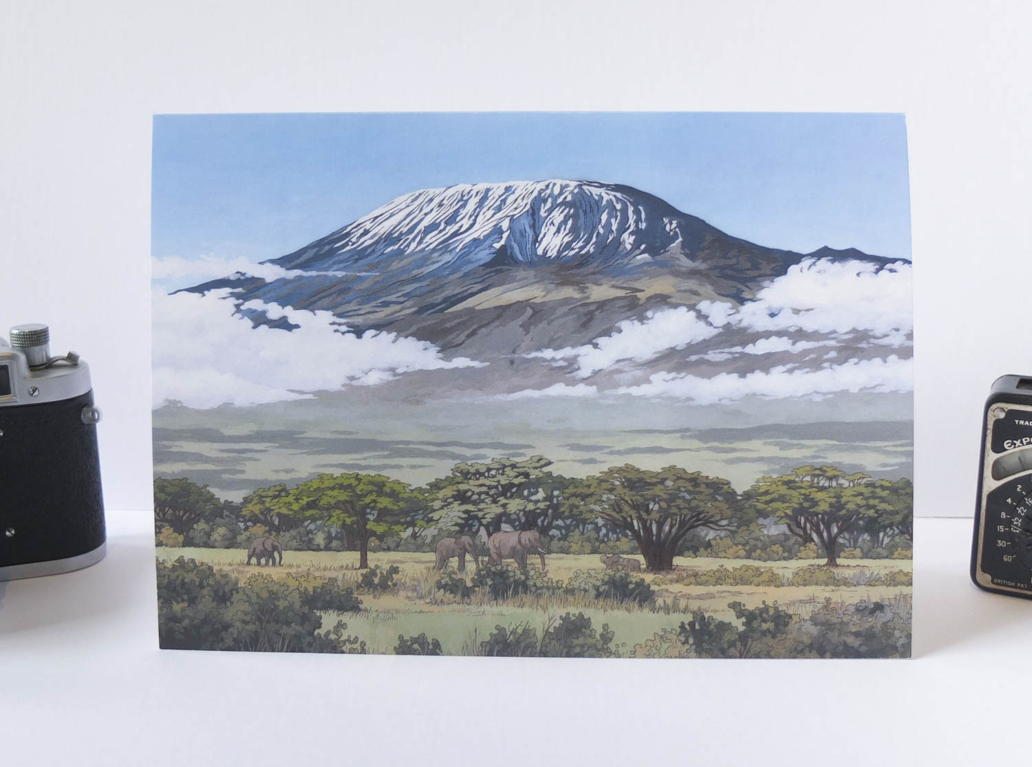 Mount Kilimanjaro Greeting Card – Illustration by Jonathan Chapman-2