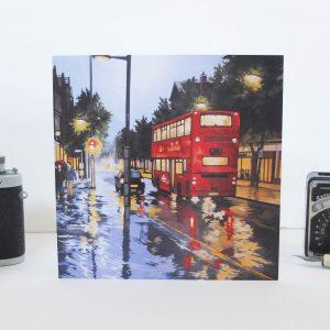 Rain Before the Train Greeting Card - Illustration by Jonathan Chapman