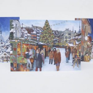 Swiss Christmas Card Bundle - Illustration by Jonathan Chapman