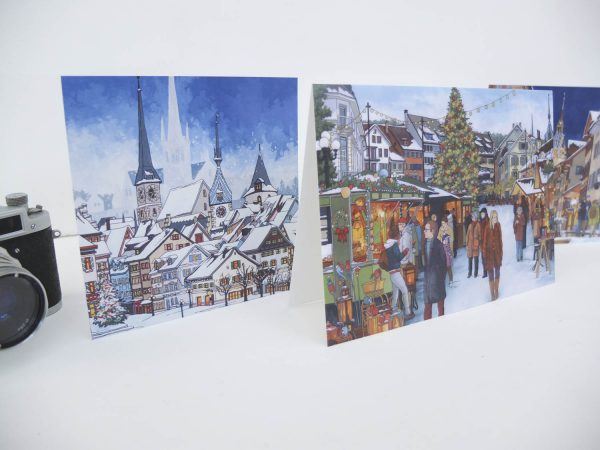 Swiss Christmas Card Bundle - Illustration by Jonathan Chapman