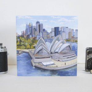 Sydney Opera House Greeting Card - Illustration by Jonathan Chapman
