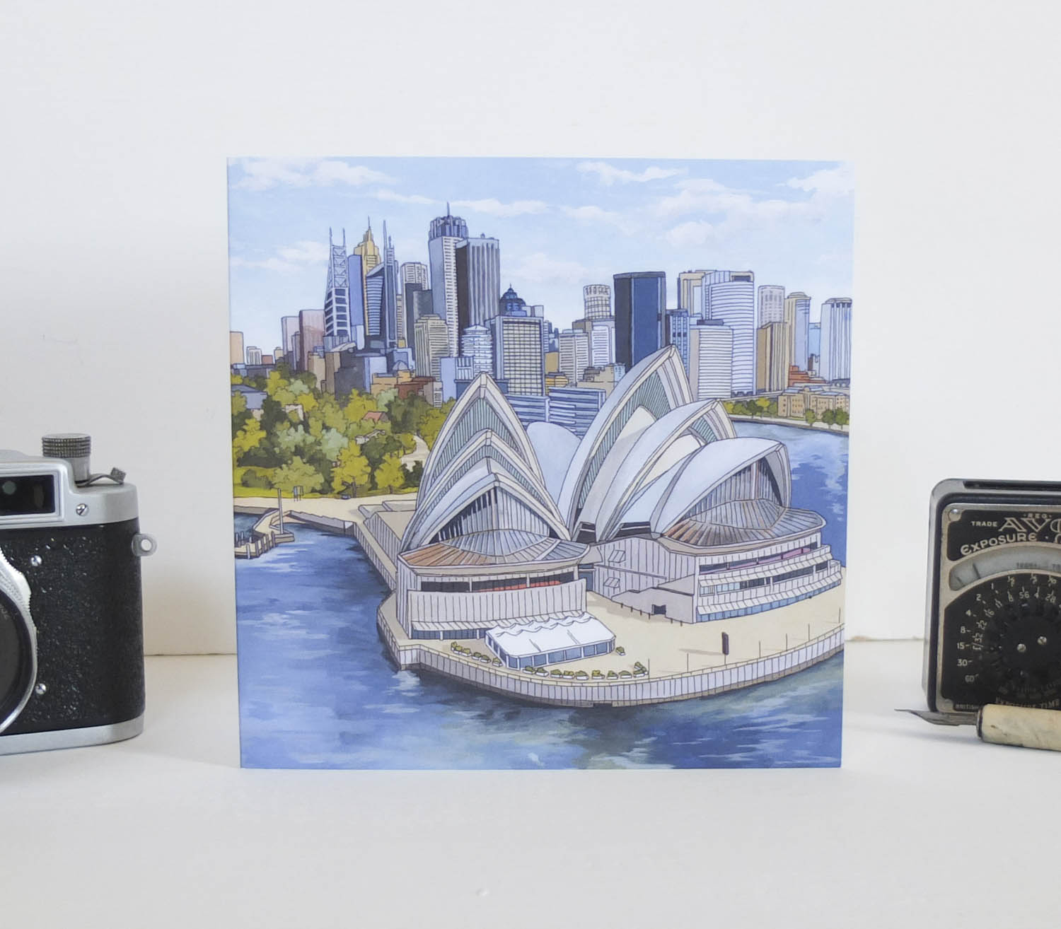 Sydney Opera House Greeting Card – Illustration by Jonathan Chapman-2
