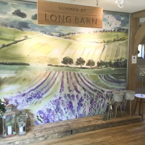 The Long Barn Alresford - Illustration by Jonathan Chapman