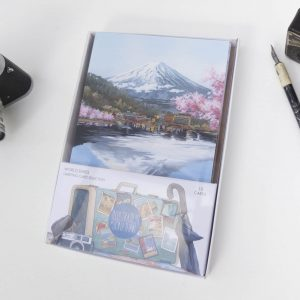 World Series Greeting Card Stationery Box - Illustration by Jonathan Chapman