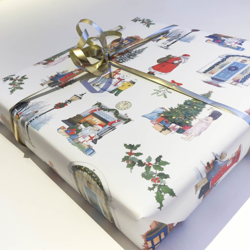 Christmas Wrapping Paper - Illustration by Jonathan Chapman
