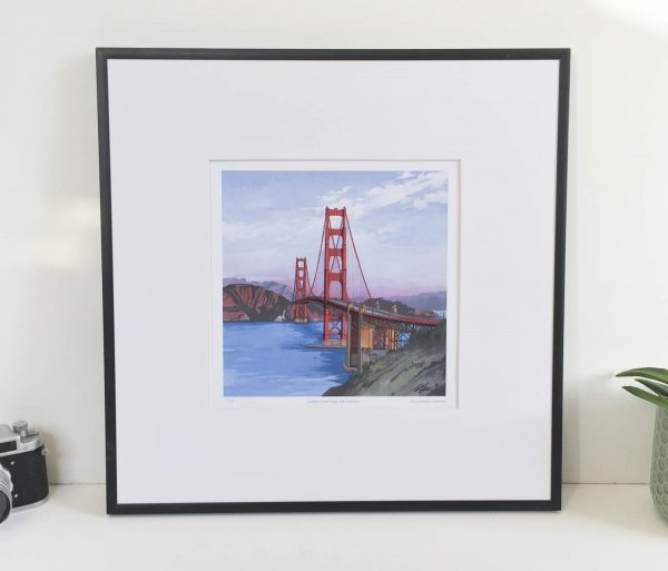 Golden Gate Bridge Limited Edition Print - Illustration by Jonathan Chapman