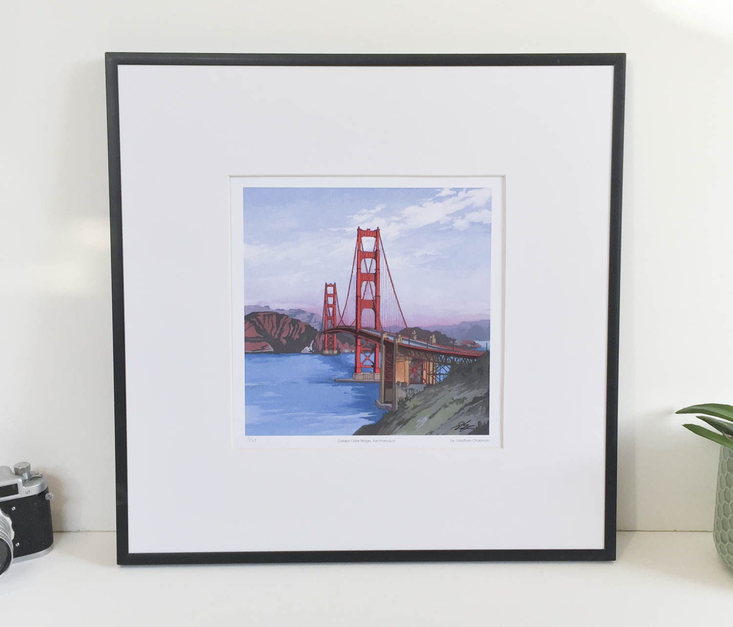Golden Gate Bridge, San Francisco Limited Edition Print – Illustration by Jonathan Chapman-2