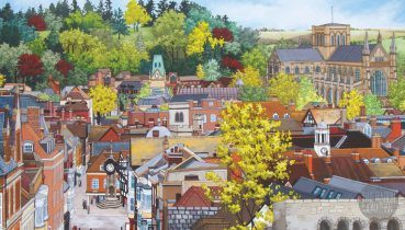 Painted Cities Exhibition - Illustration by Jonathan Chapman