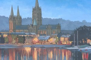 Truro Cathedral in Blue