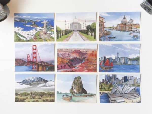 World Series Postcard Set - Illustration by Jonathan Chapman