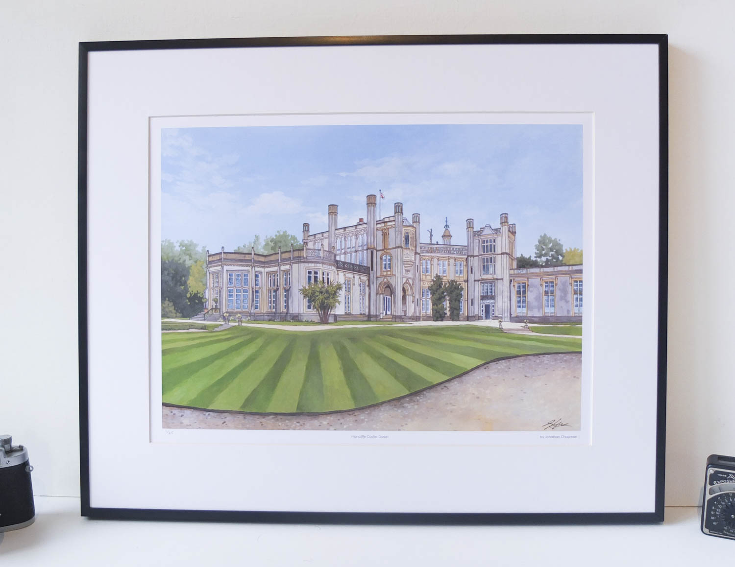 Highcliffe Castle Dorset Limited Edition Print – Illustration by Jonathan Chapman
