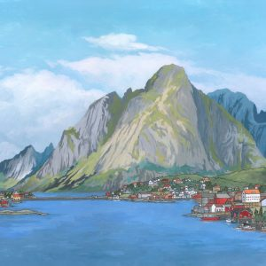 Lofoten Islands Norway - Illustration by Jonathan Chapman