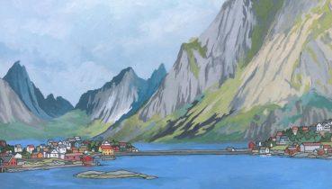 Lofoten Islands Norway - Illustration by Jonathan Chapman