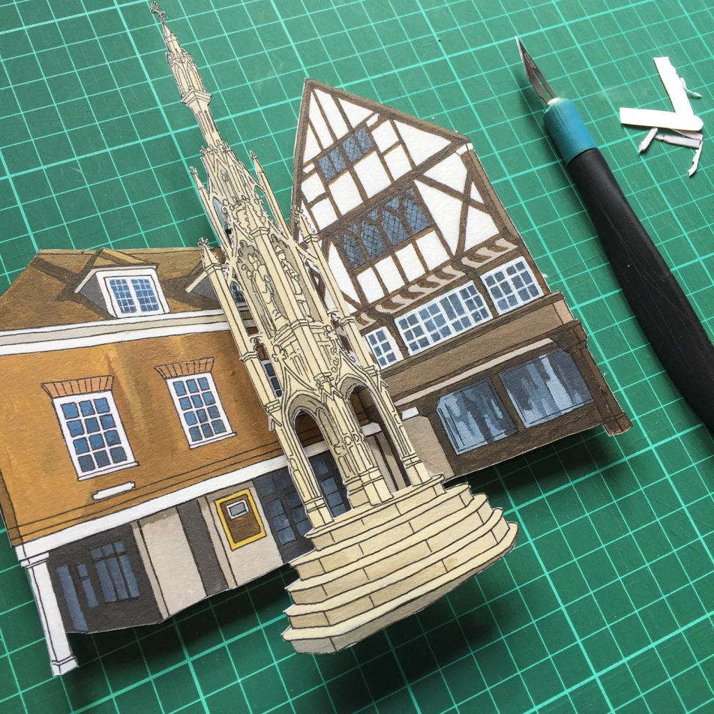 Winchester Buttercross Diorama - Illustration by Jonathan Chapman
