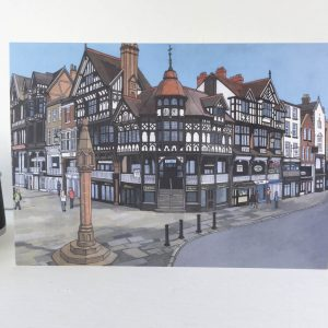Chester Rows Greeting Card - Illustration by Jonathan Chapman
