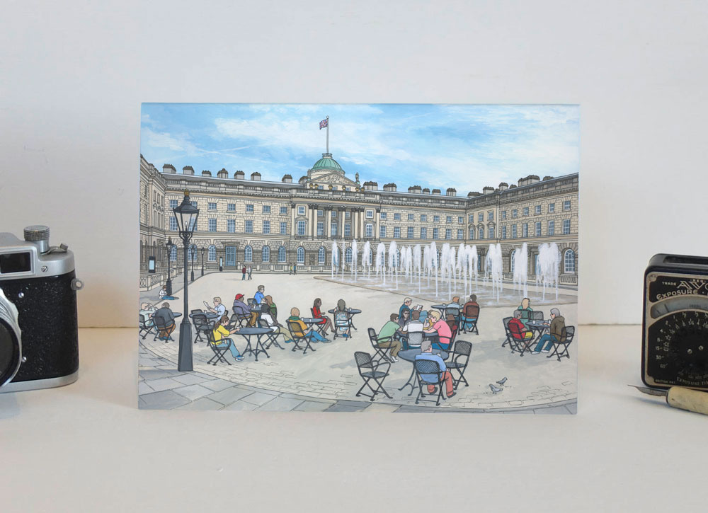 Somerset House in Summer Greeting Card-2