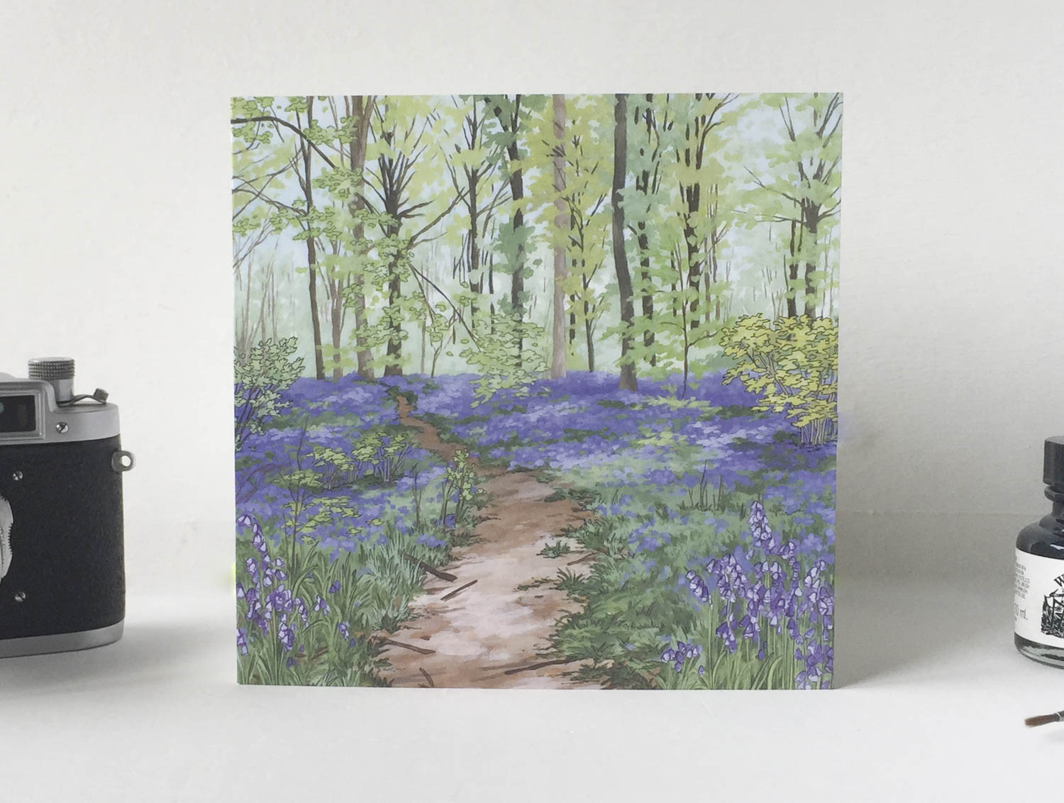 Bluebell Woods Greeting Card – Illustration by Jonathan Chapman-2