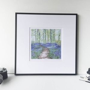 Bluebell Woods Limited Edition Print - Illustration by Jonathan Chapman