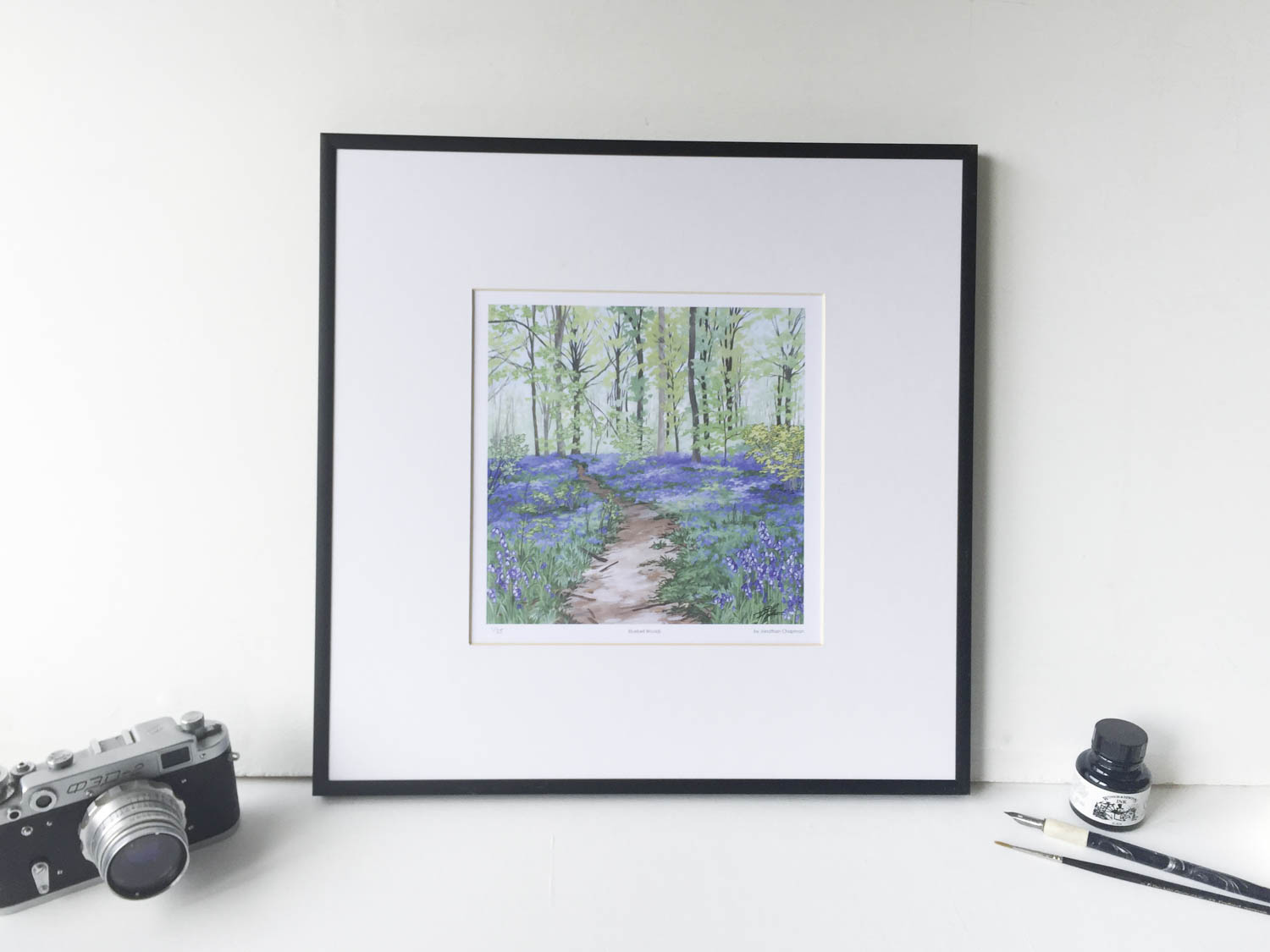 Bluebell Woods Limited Edition Print – Illustration by Jonathan Chapman