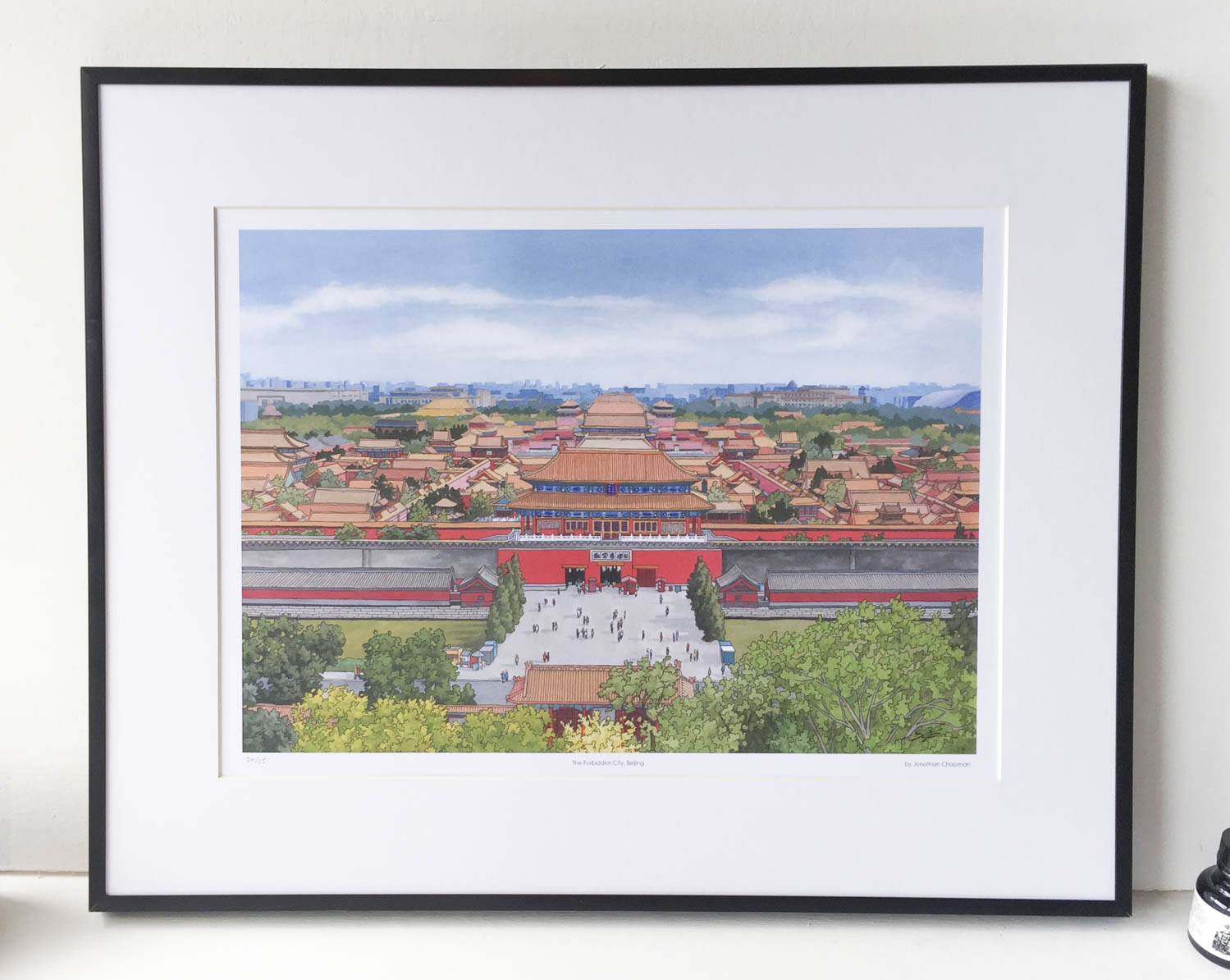Forbidden City Beijing Limited Edition Print – Illustration by Jonathan Chapman-2