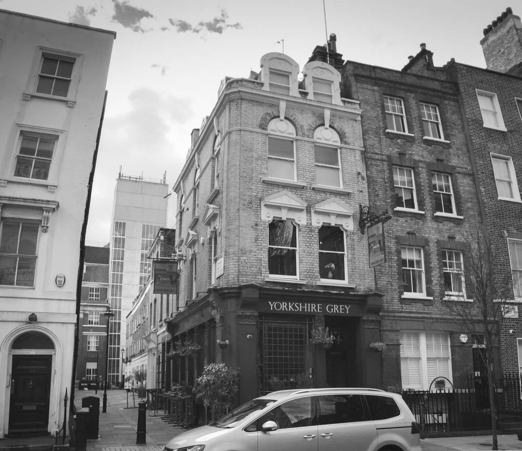 Yorkshire Grey Pub, London Wandering Photo Inspiration - Illustration by Jonathan Chapman