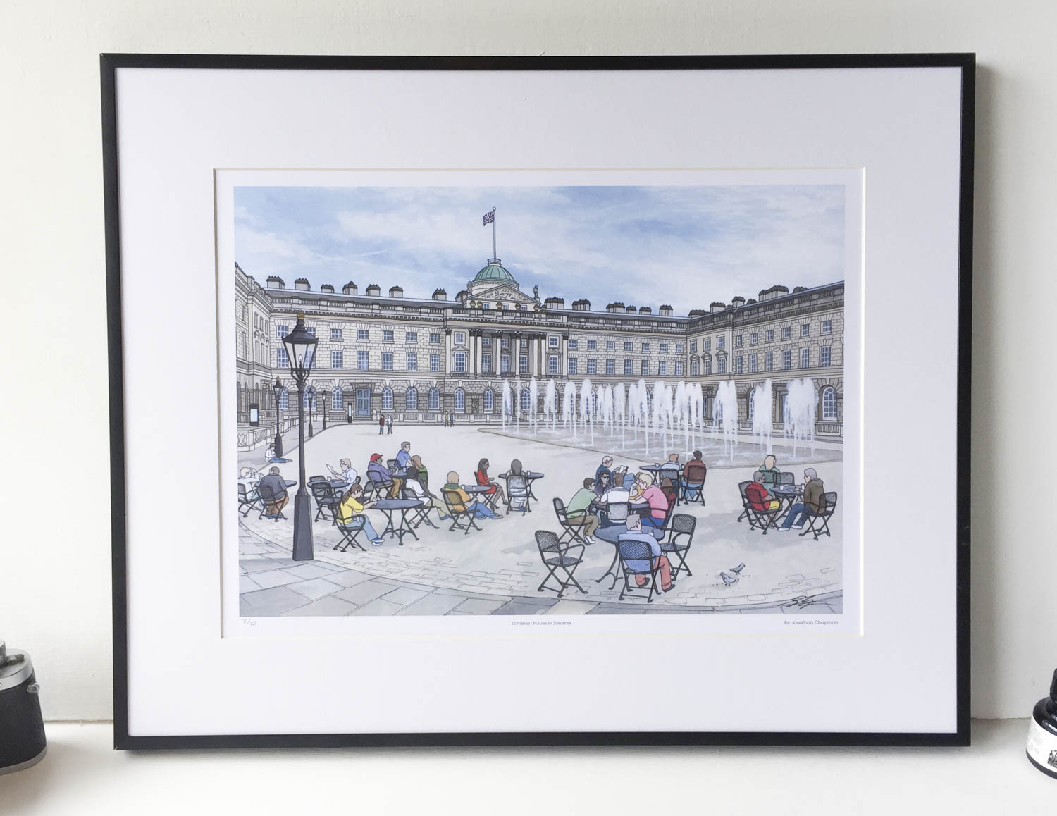 Somerset House Limited Edition Print – Illustration by Jonathan Chapman-2