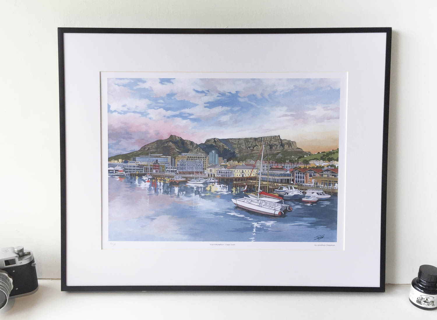 V and A Waterfront Limited Edition Print – Illustration by Jonathan Chapman-2