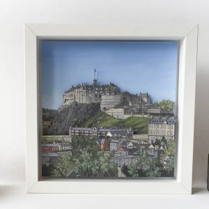Edinburgh Castle Diorama - Illustration by Jonathan Chapman