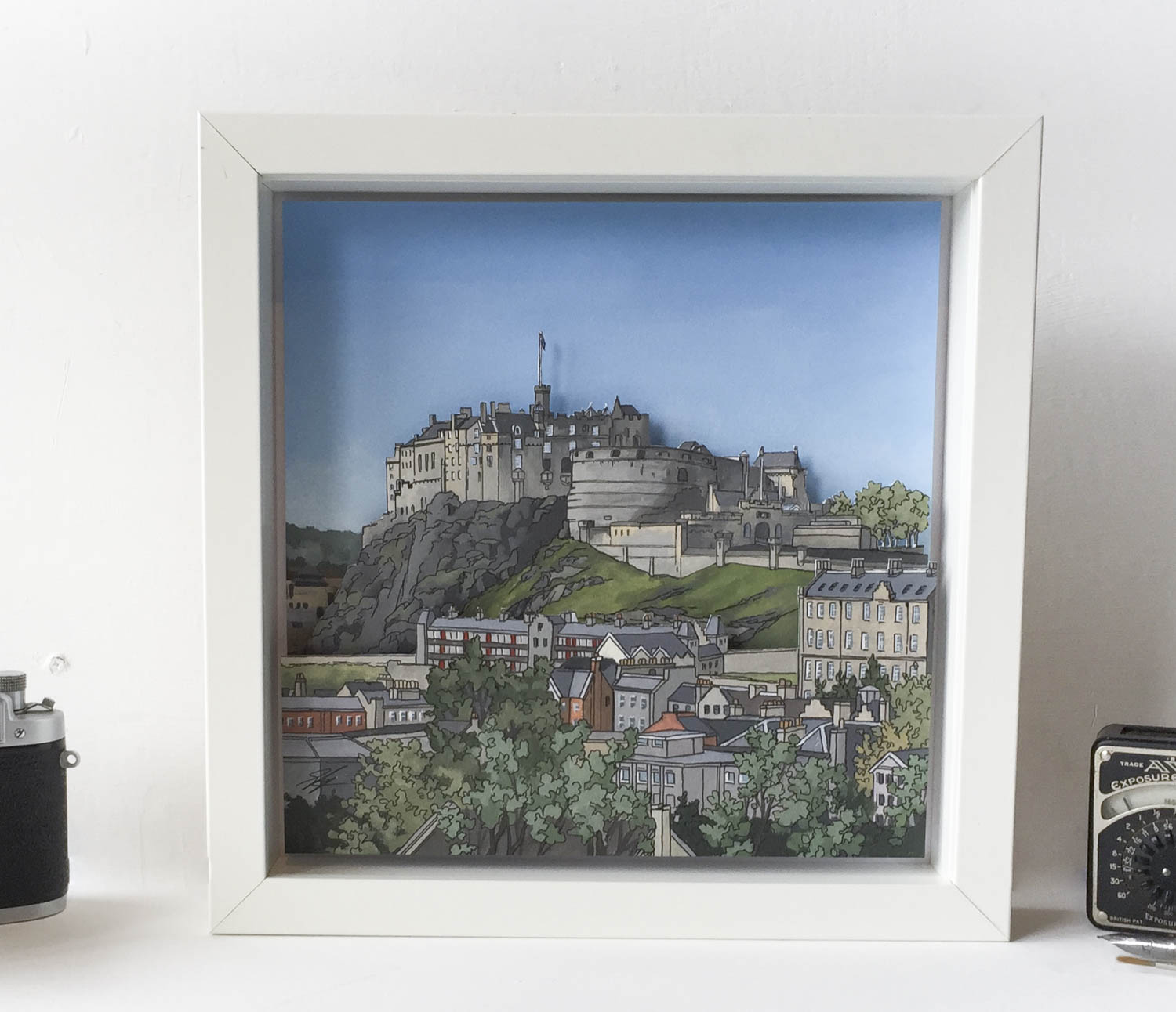 Edinburgh Castle Diorama – Illustration by Jonathan Chapman-4