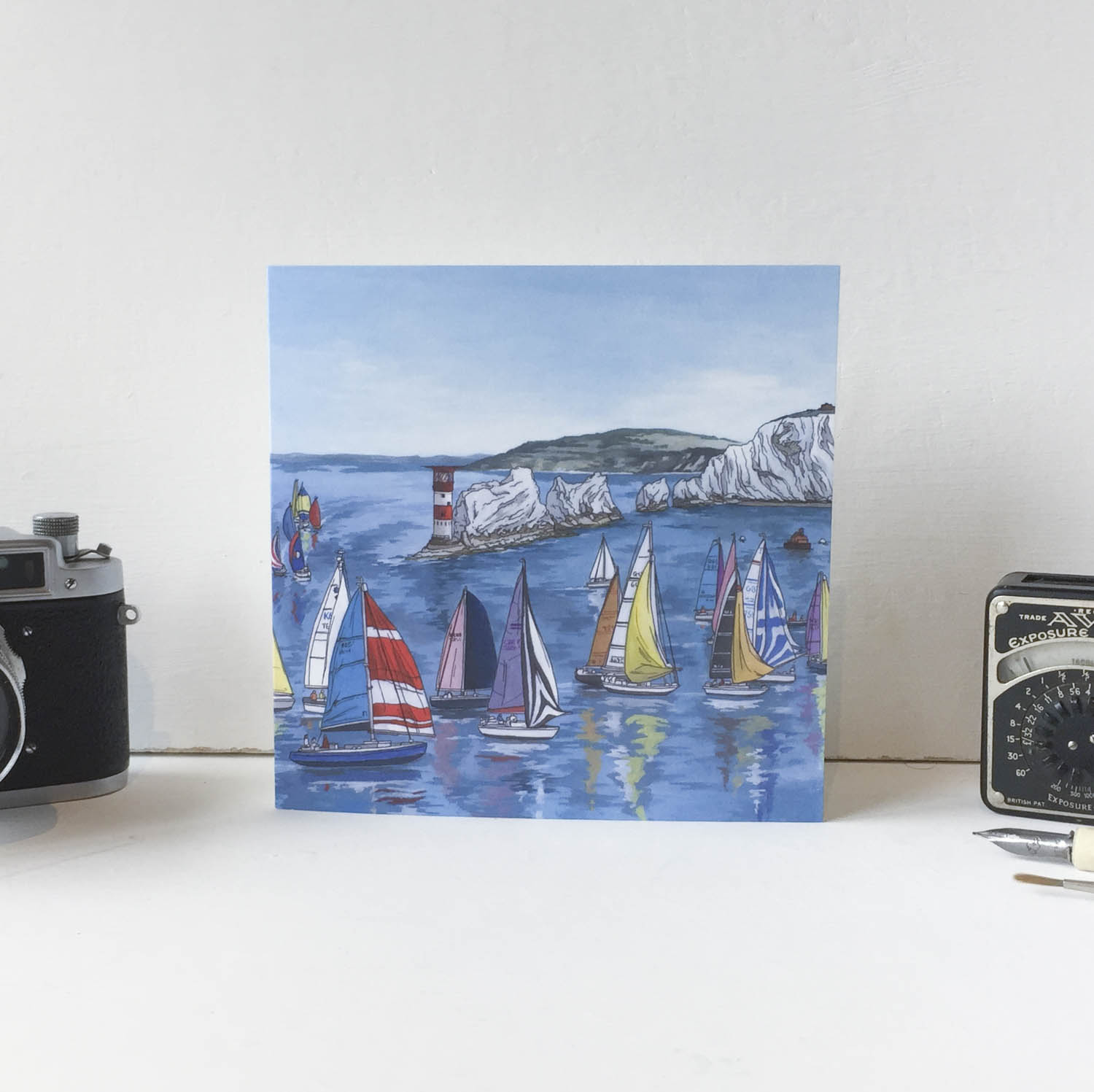 Round the Island Race Greeting Card – Illustration by Jonathan Chapman-2