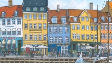 Nyhavn Copenhagen Feature - Illustration by Jonathan Chapman