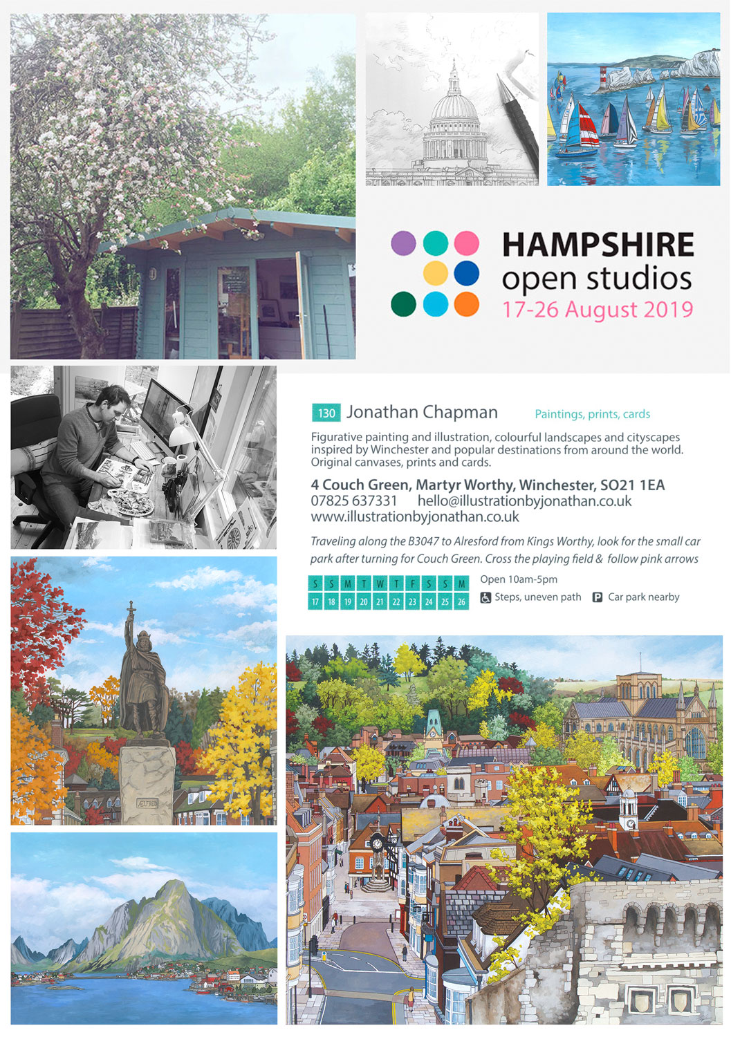 Hampshire Open Studios 2019, visitor information