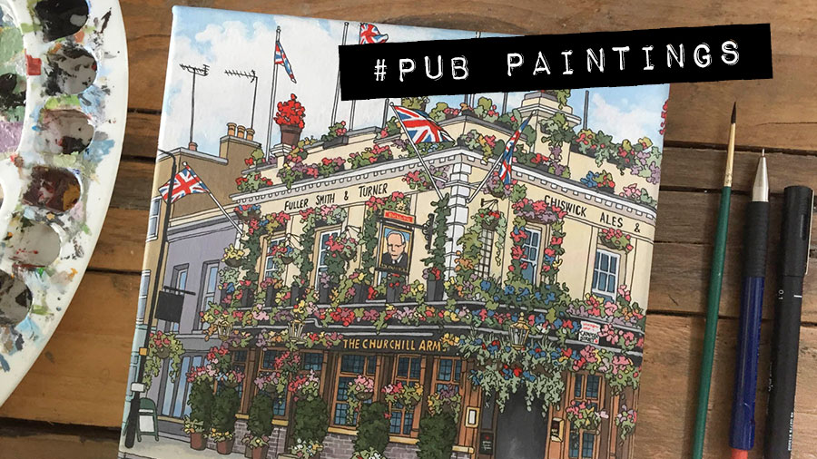 #Pub Paintings