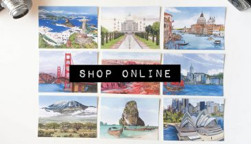 Shop Online - Illustration by Jonathan Chapman