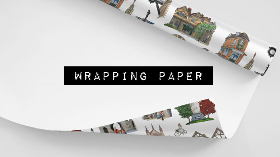 Wrapping Paper - Illustration by Jonathan Chapman