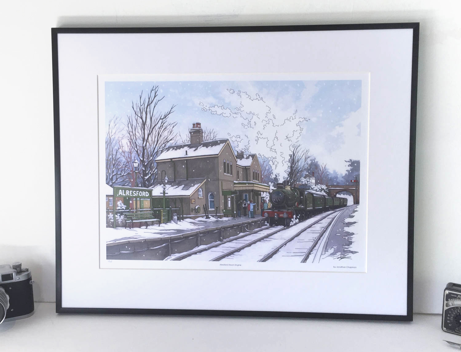 Alresford Steam Engine Limited Edition Print – Illustration by Jonathan Chapman-2