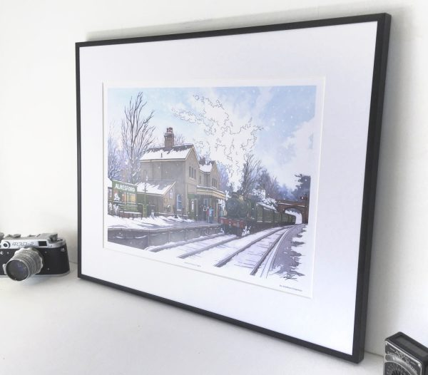 Alresford Steam Engine Limited Edition Print - Illustration by Jonathan Chapman