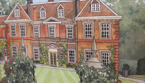 Lainston House - Illustration by Jonathan