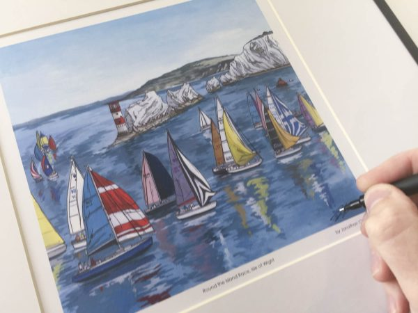 Round the Island Race Limited Edition Print - Illustration by Jonathan Chapman