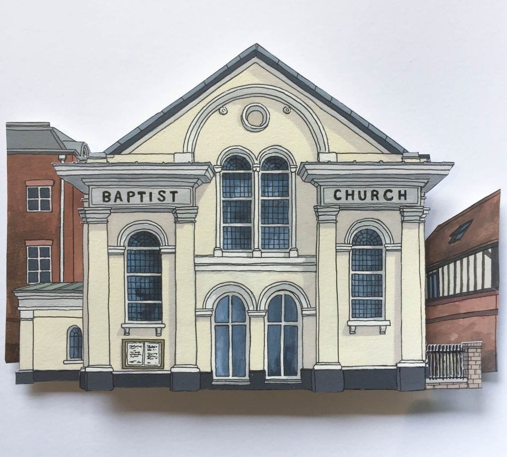 Winchester Baptist Church - Illustration by Jonathan