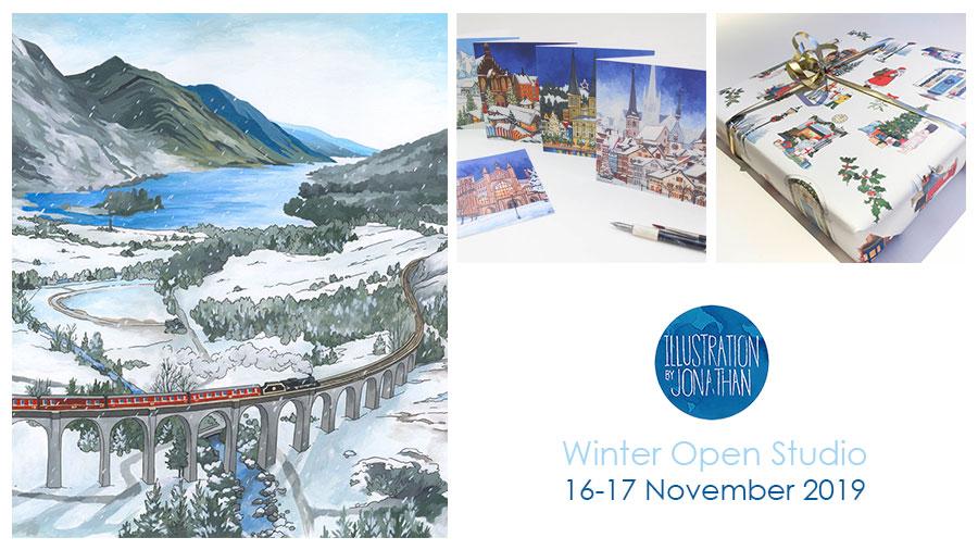 Winter Open Studio 2019 - Illustration by Jonathan Chapman