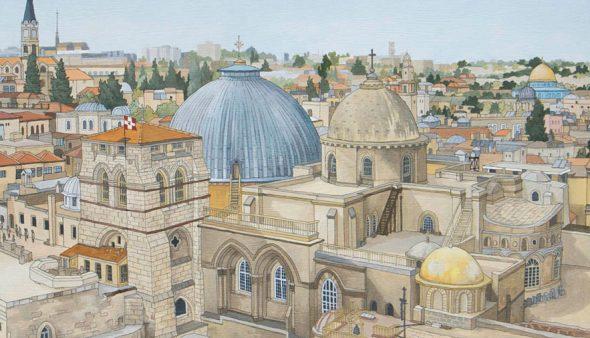 Jerusalem Commission - Original Illustration by Jonathan Chapman