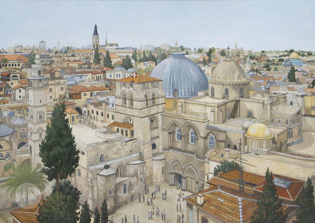 Jerusalem - Illustration by Jonathan Chapman