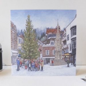 Carols Around The Christmas Tree Greeting Card - Illustration by Jonathan Chapman