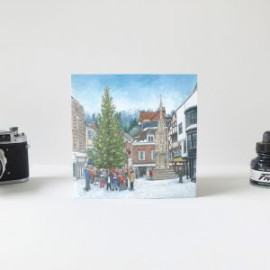 Carols Around the Christmas Tree Greeting Card